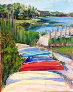 Rowboats on Meetinghouses Pond